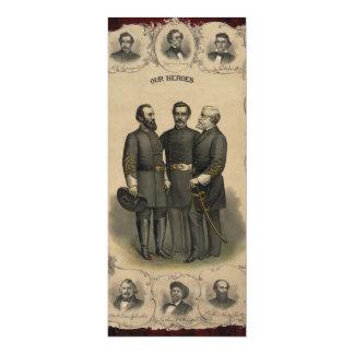 Héros de guerre civile carton d'invitation  10,16 cm x 23,49 cm