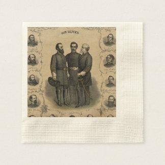 Héros de guerre civile serviette en papier