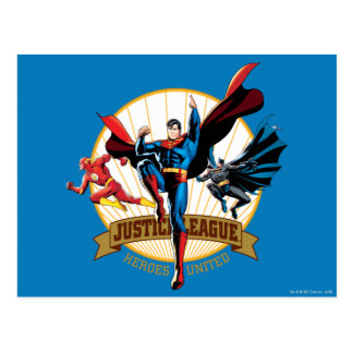 Héros de ligue de justice unis carte postale
