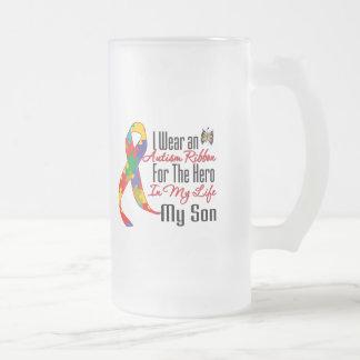 Héros de ruban d'autisme dans ma vie mon fils tasses à café