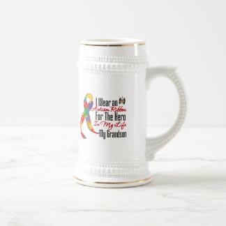Héros de ruban d'autisme dans ma vie mon petit-fil tasse à café