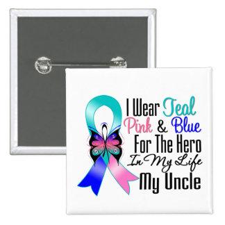 Héros de ruban de cancer de la thyroïde mon oncle pin's