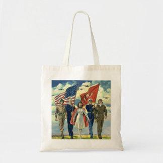 Héros patriotes et fiers vintages d'effectifs sacs fourre-tout