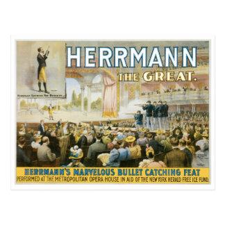 Herrmann la Loi contagieuse de grande balle Carte Postale