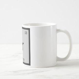Heu - symbole gris de Tableau périodique de chimie Mug