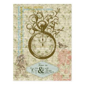 Heure d'aimer la vie carte postale