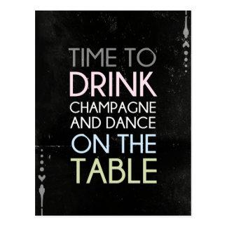 Heure de boire Champagne et de danser - la carte
