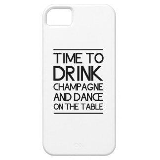 Heure de boire Champagne et de danser sur le Coque iPhone 5