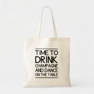 Heure de boire Champagne et de danser sur le Sacs Fourre-tout