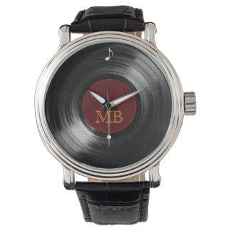 heure de disque vinyle montres bracelet