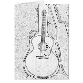Heure de jouer la carte de voeux de guitare