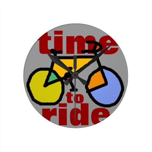 heure de monter le vélo de ~ pendules