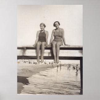 Heure d'été à Cannes en 1935 Affiche