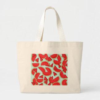 Heure d'été de pastèque grand tote bag