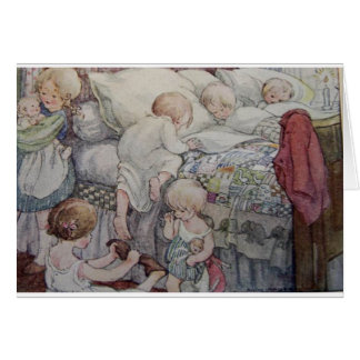 Heure du coucher pour des enfants - carte de vœux
