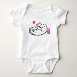 Heure du repas de licorne de bébé body