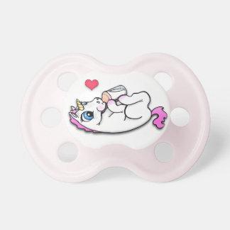 Heure du repas de licorne de bébé - fille rose - tétines pour bébé