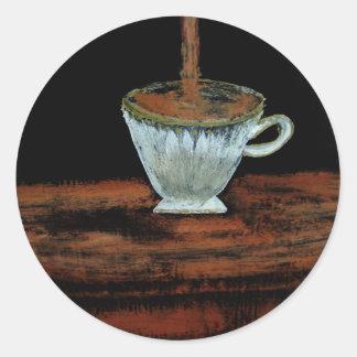 Heure du thé sticker rond