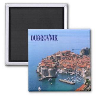 Heure - La Croatie - Dubrovnik Magnet Carré