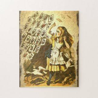 Heure-milliampère Jongg Alice dans le puzzle du