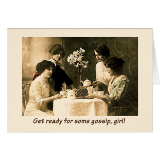 Heure pour le bavardage, fille ! carte de vœux