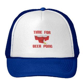 Heure pour le casquette de puanteur de bière