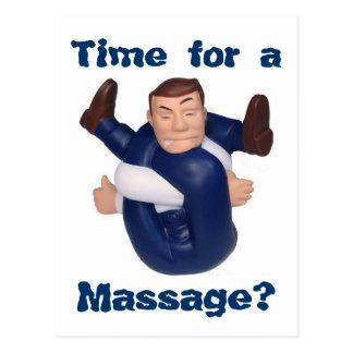 Heure pour un massage ? carte postale I