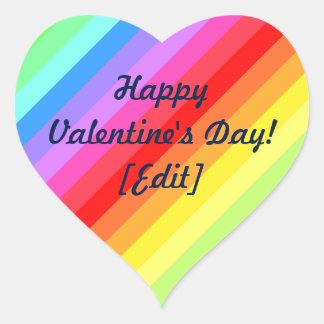 Heureuse Sainte-Valentin - autocollants de coeur