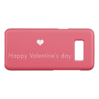 heureuse Sainte-Valentin minimaliste Coque Case-Mate Samsung Galaxy S8