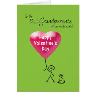 Heureuse Sainte-Valentin pour des grands-parents Carte De Vœux