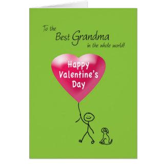 Heureuse Sainte-Valentin pour la grand-maman Carte De Vœux