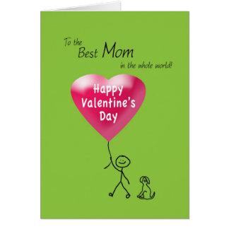 Heureuse Sainte-Valentin pour la maman Carte De Vœux