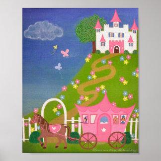 Heureusement pour toujours - 8x10 princesse Castle Poster