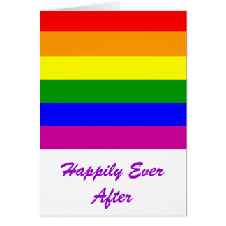 Heureusement pour toujours/mariage gai carte de vœux