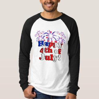 Heureux 4 juillet avec des feux d'artifice t-shirt