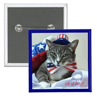 Heureux 4 juillet avec le chat pin's
