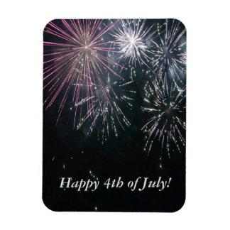 Heureux 4 juillet ! magnet rectangulaire