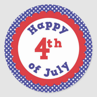 Heureux 4 juillet sticker rond