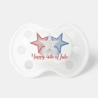 Heureux 4 juillet tétines pour bébé