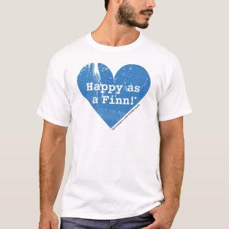 Heureux comme T-shirt de base de Finn