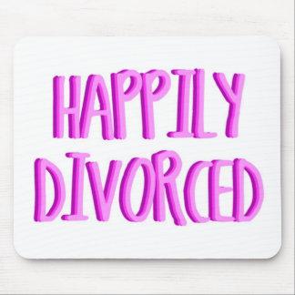 Heureux d'être femelle divorcée tapis de souris