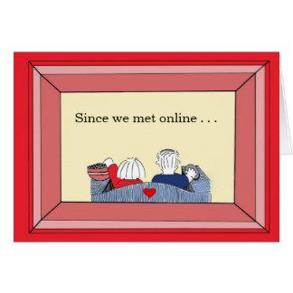 Heureux nous avons rencontré (en ligne) - carte de vœux