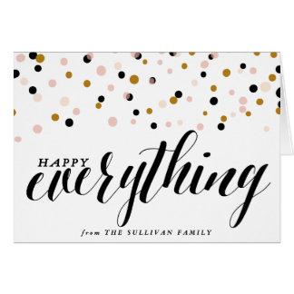 Heureux tout carte de vacances des confettis  