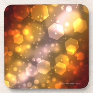 Hexagone abstrait dessous-de-verre