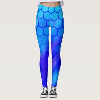 Hexagone bleu leggings
