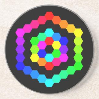 Hexagone coloré dessous de verres