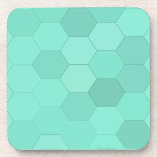 Hexagones bleu vert dessous-de-verre