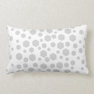Hexagones gris oreiller