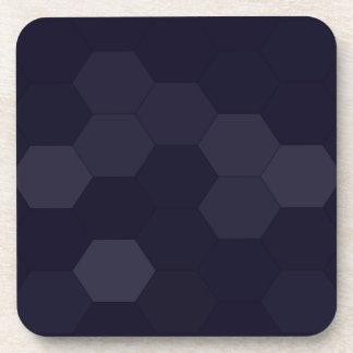 Hexagones noirs dessous-de-verre