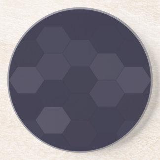 Hexagones noirs dessous de verre en grès